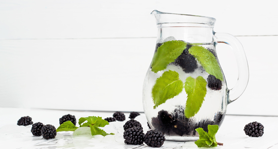 blackberry-mint water